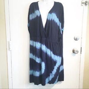 Fashion Bug Plus Size Tie Dye Stretch Knit Dress